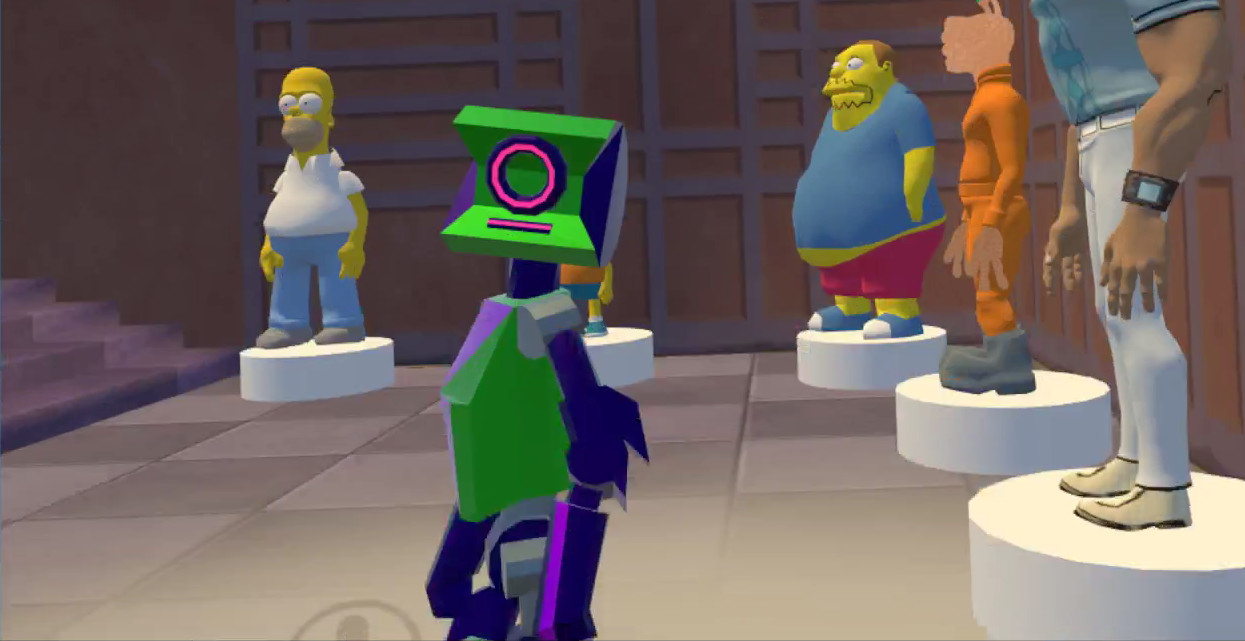In VRChat. Green and purple colour variant by Dylan.
