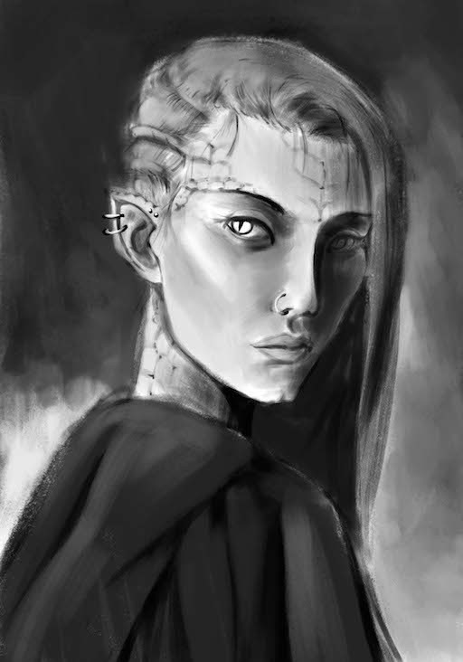 Sketch with values
