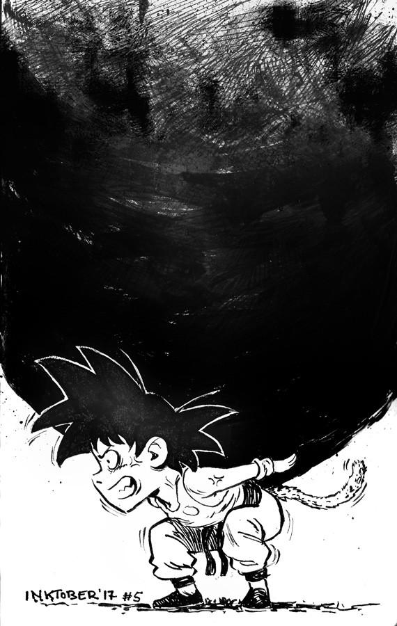 Young Goku (DB fanart)