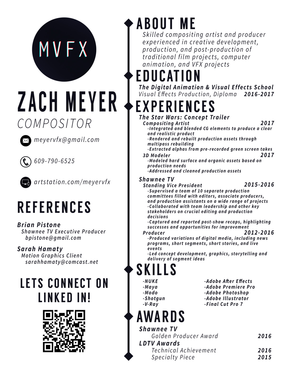 Luxury Vfx Compositor Cv Model - Professional Resume Examples ...