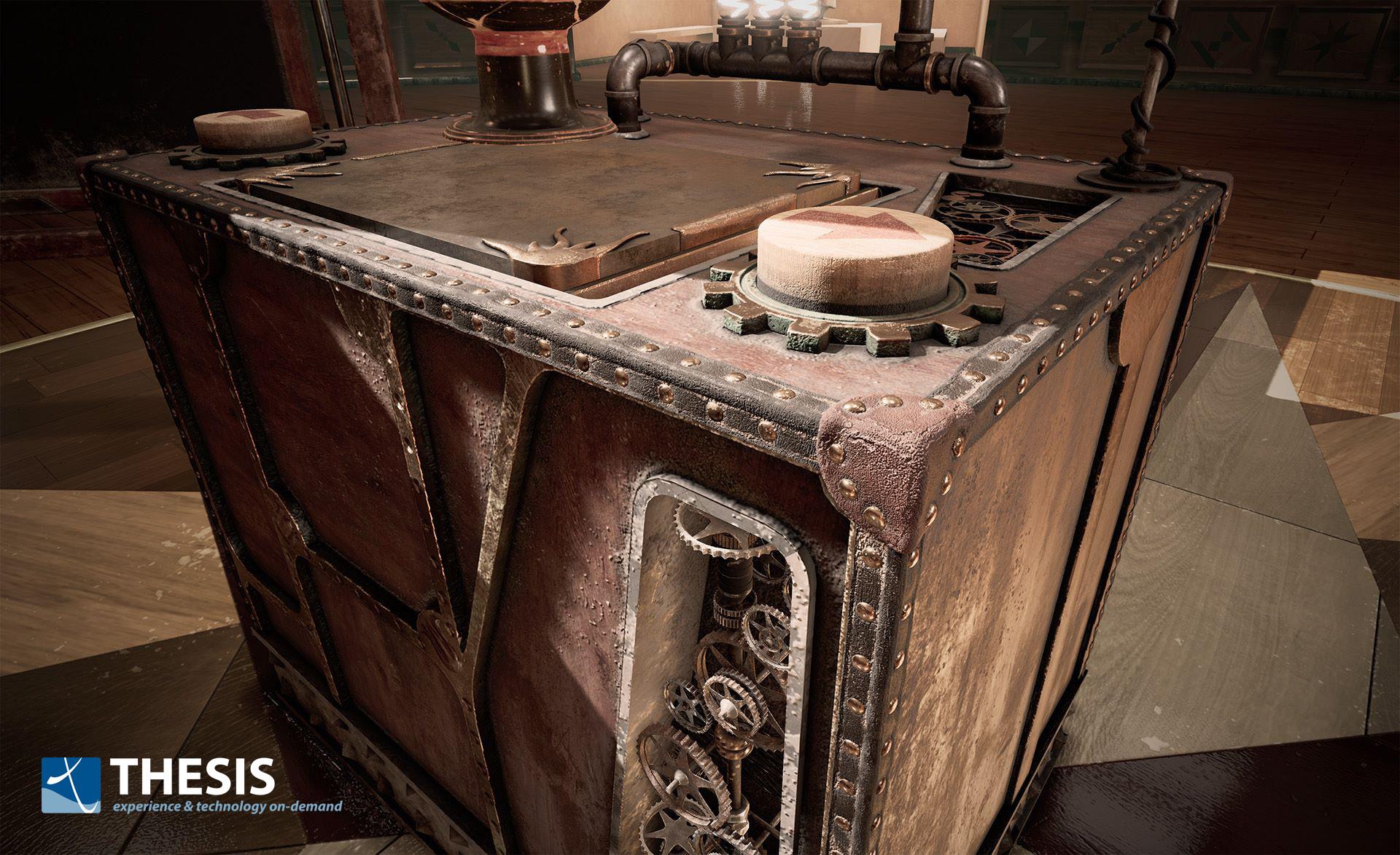 The 'Virtual Box' scene (Unreal Engine 4).