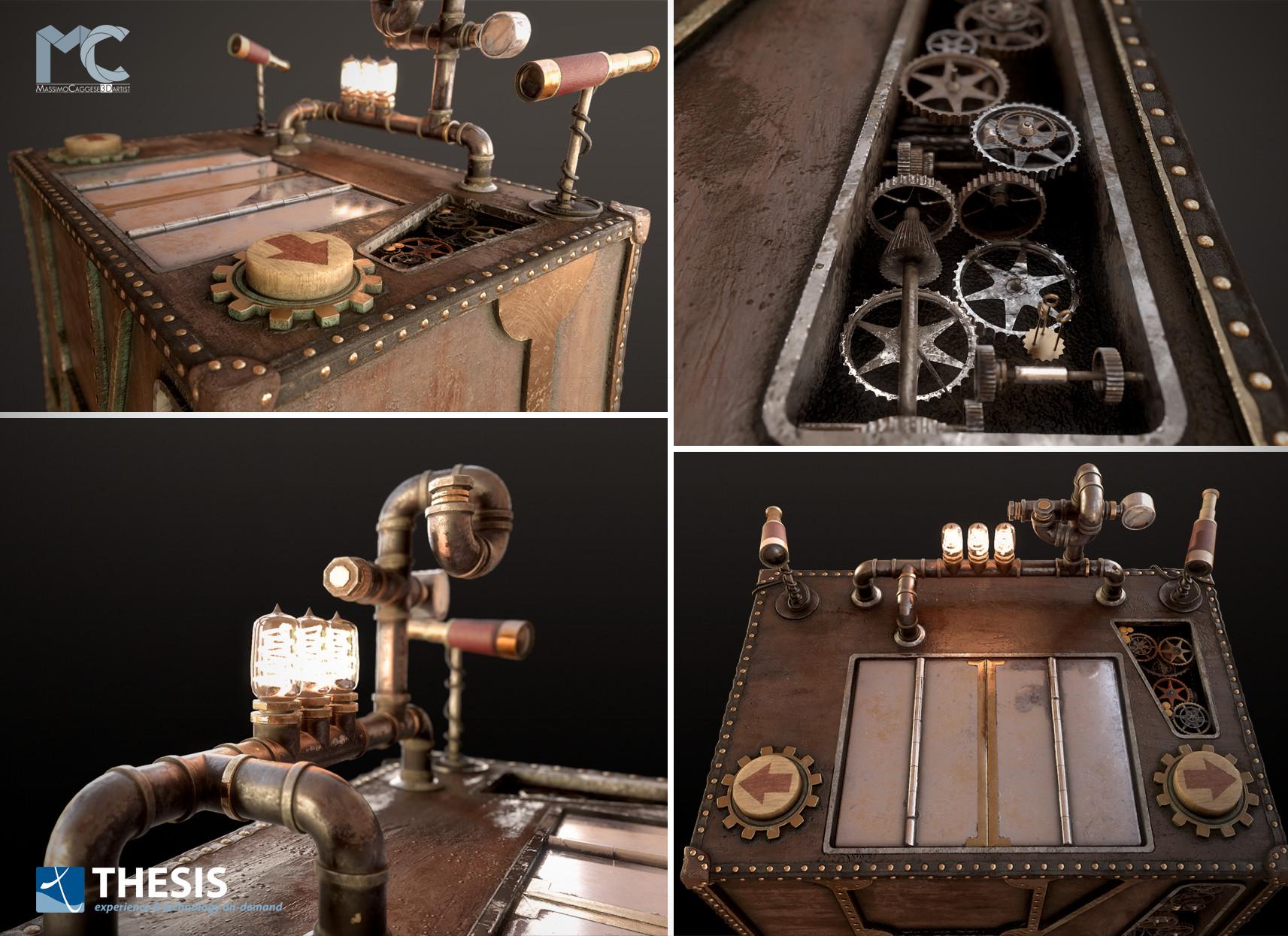 The 'Virtual Box', other vies (Marmoset Toolbag 3).