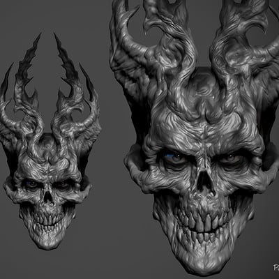 3D speed sculpt inspired by a concept  by Kazimirov Dmitriy called demon