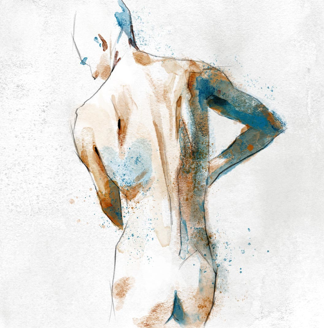 Carlos Caminha - Study - Watercolor brushes for Photoshop