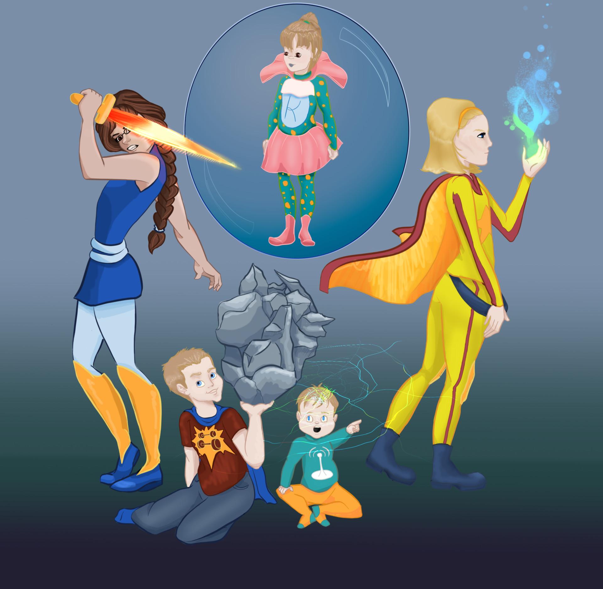 ArtStation - Super Kids, Antonia Arcella