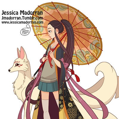 Jessica madorran japanese fashion 20 2017 artstation