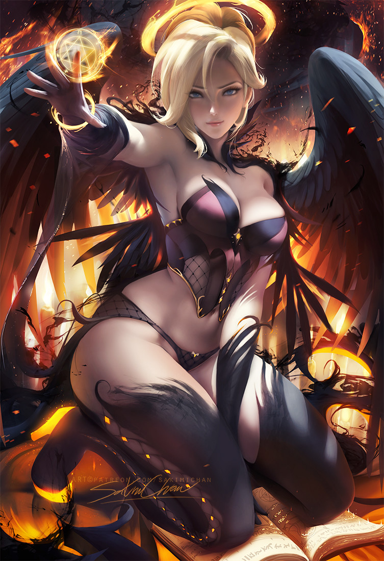 Sakimi chan halloween dark angel mercy