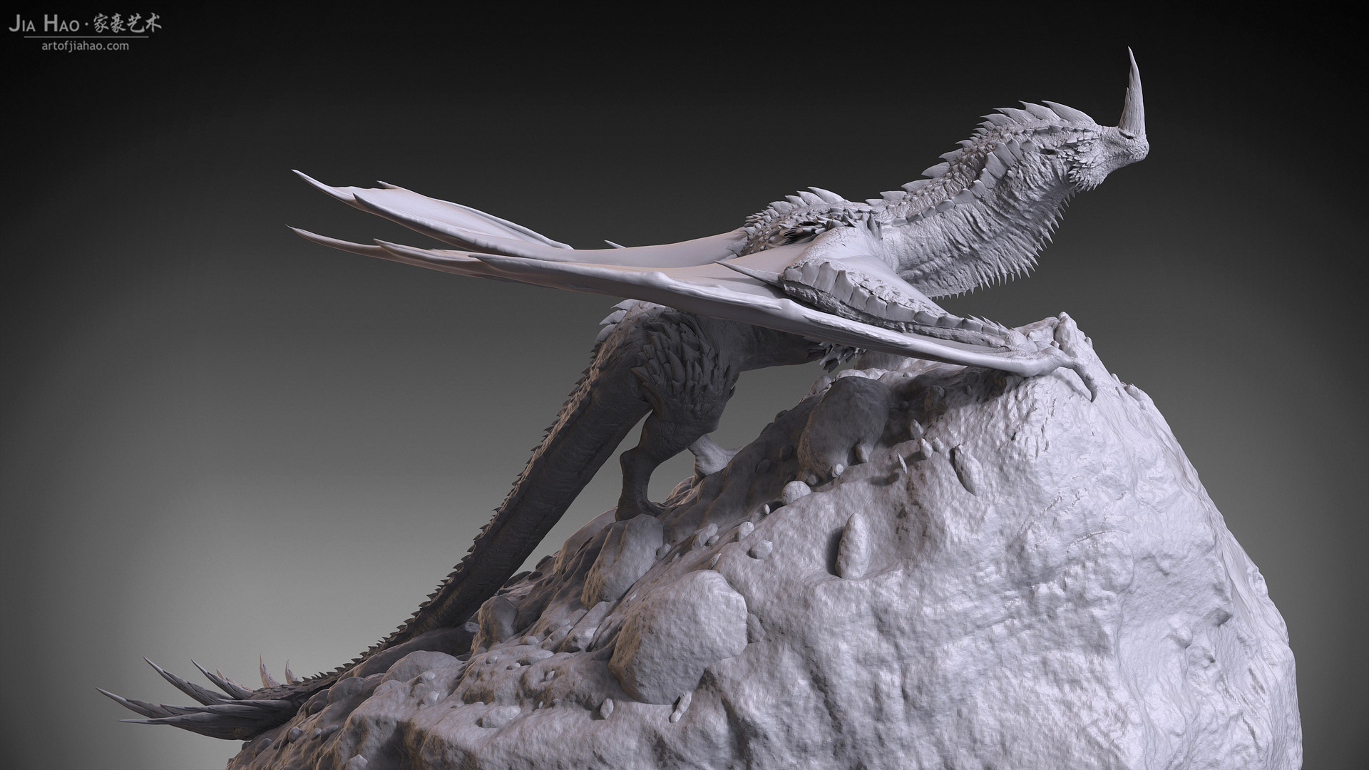 Jia hao 2017 horneddragon digitalsculpting 06