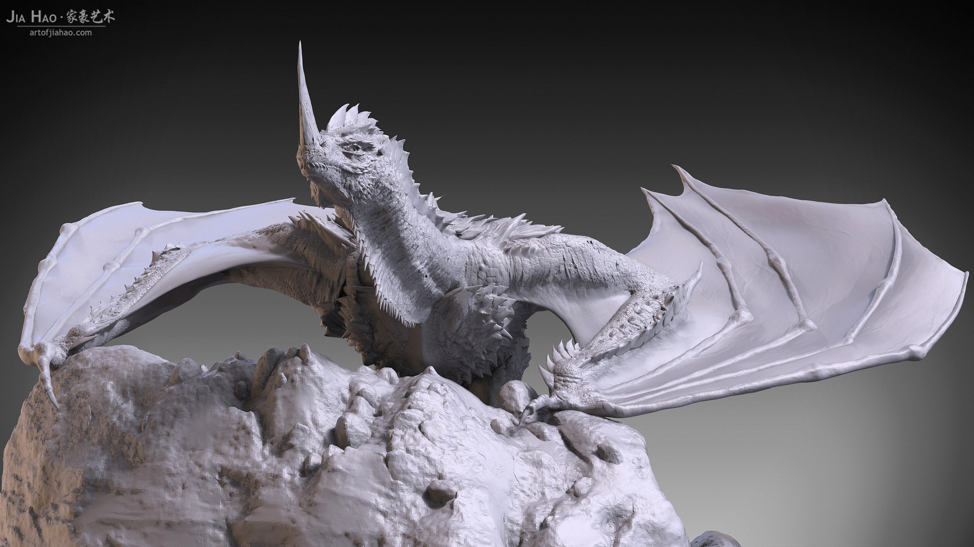 Jia hao 2017 horneddragon digitalsculpting 04