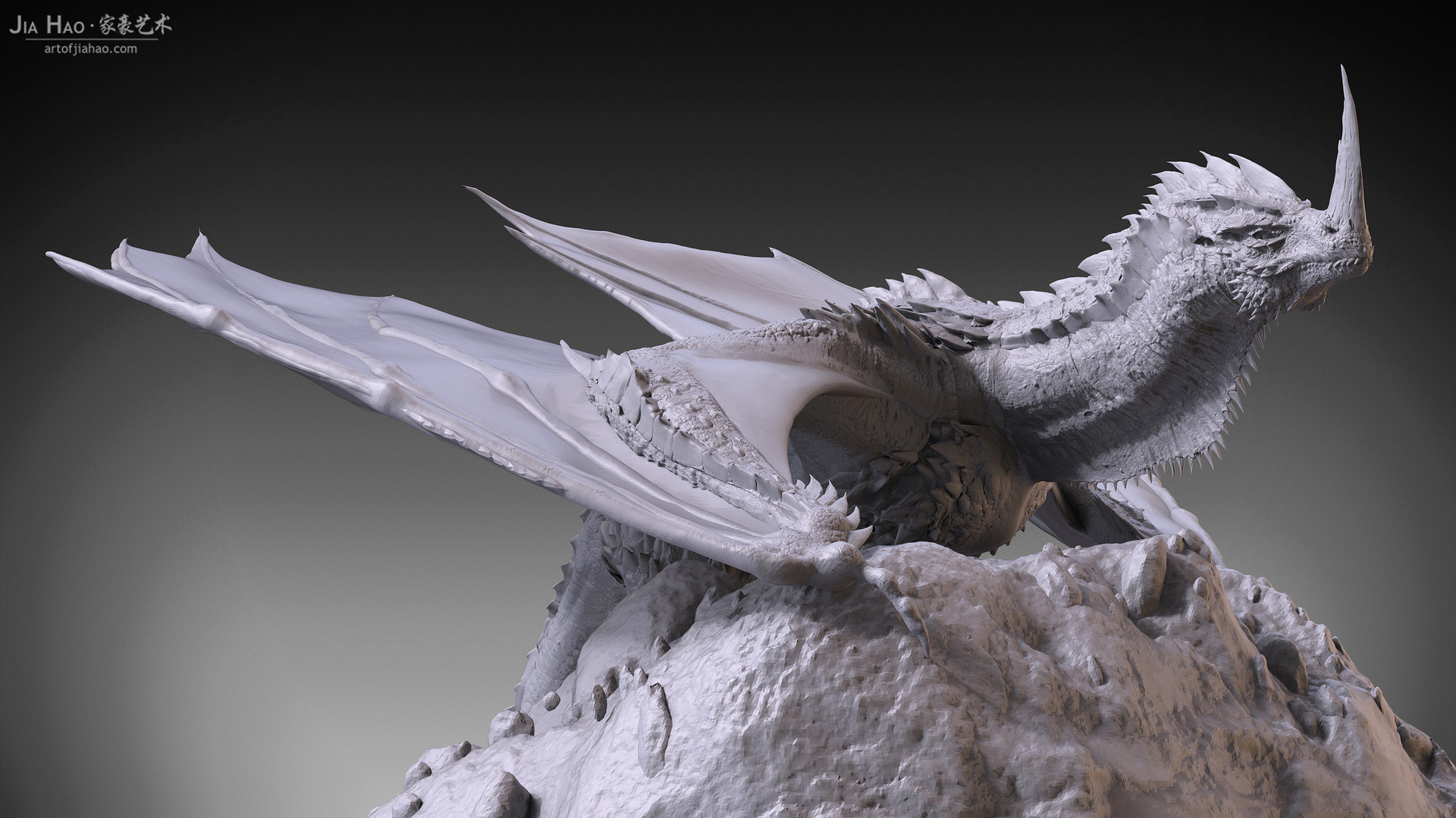 Jia hao 2017 horneddragon digitalsculpting 05
