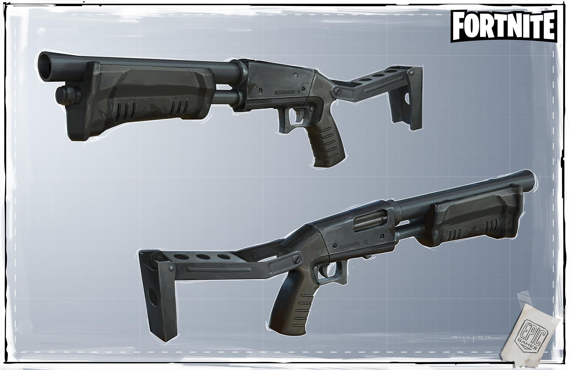 Ben shafer d fortnite weapons firearms shotty longarm enforcer layout longarm enforcer sheet 3 5