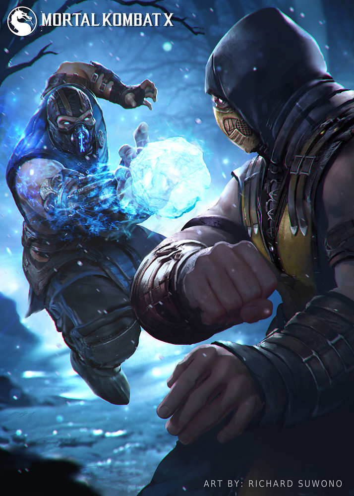 Artstation Mkx Sub Zero Vs Scorpion Richard Suwono