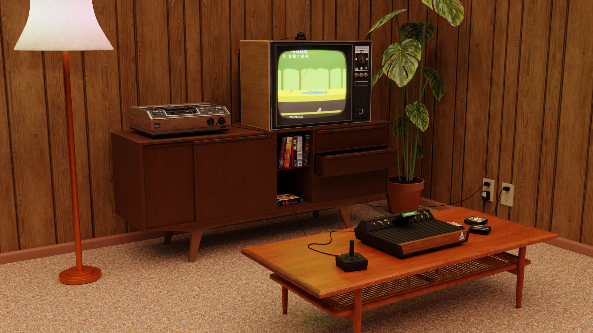 James Clark - 1980s Living Room
