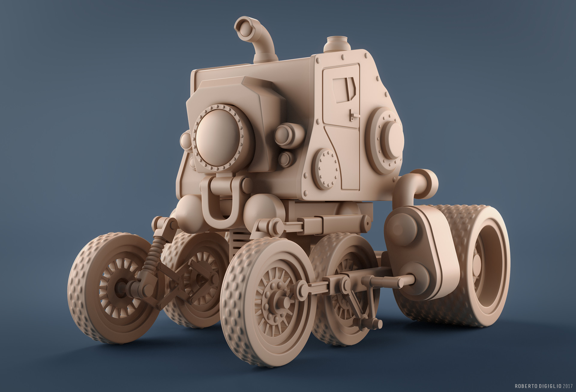 Roberto digiglio steampunkvehicleclay1hd