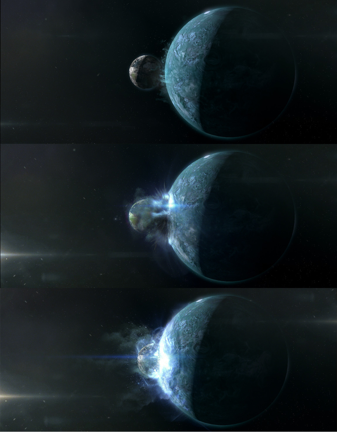 early concept for the destruction of earth shot