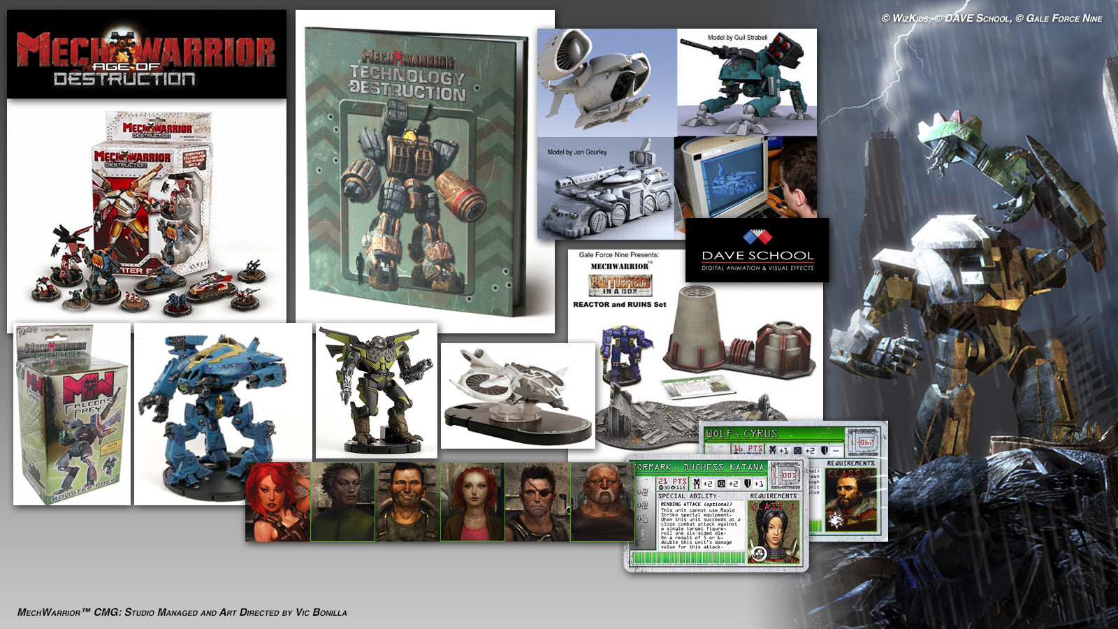 "Art Directed the ""Mech Warrior"" Intellectual Property for WizKids"