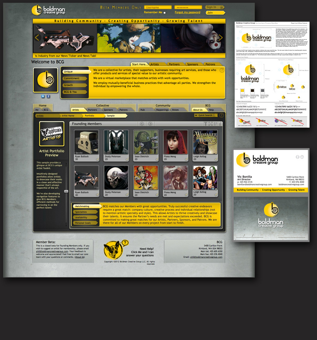 Developed the visual style and was the Art Manager for the indie company I co-founded, Boldman Creative Group.