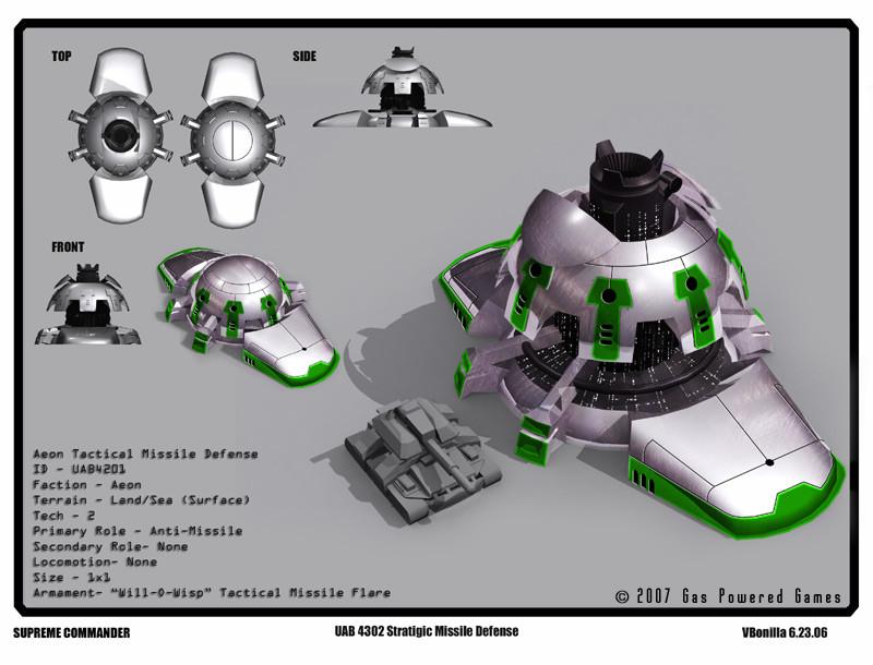 "Aeon Missile Platform concept for ""Supreme Commander"" PC game title"