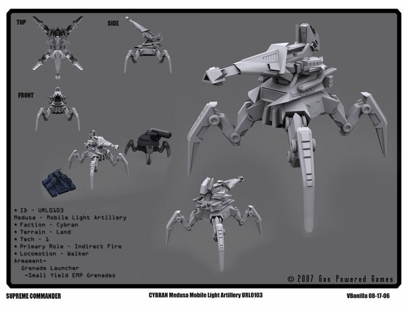 "Cybran tank concept for ""Supreme Commander"" PC game title"