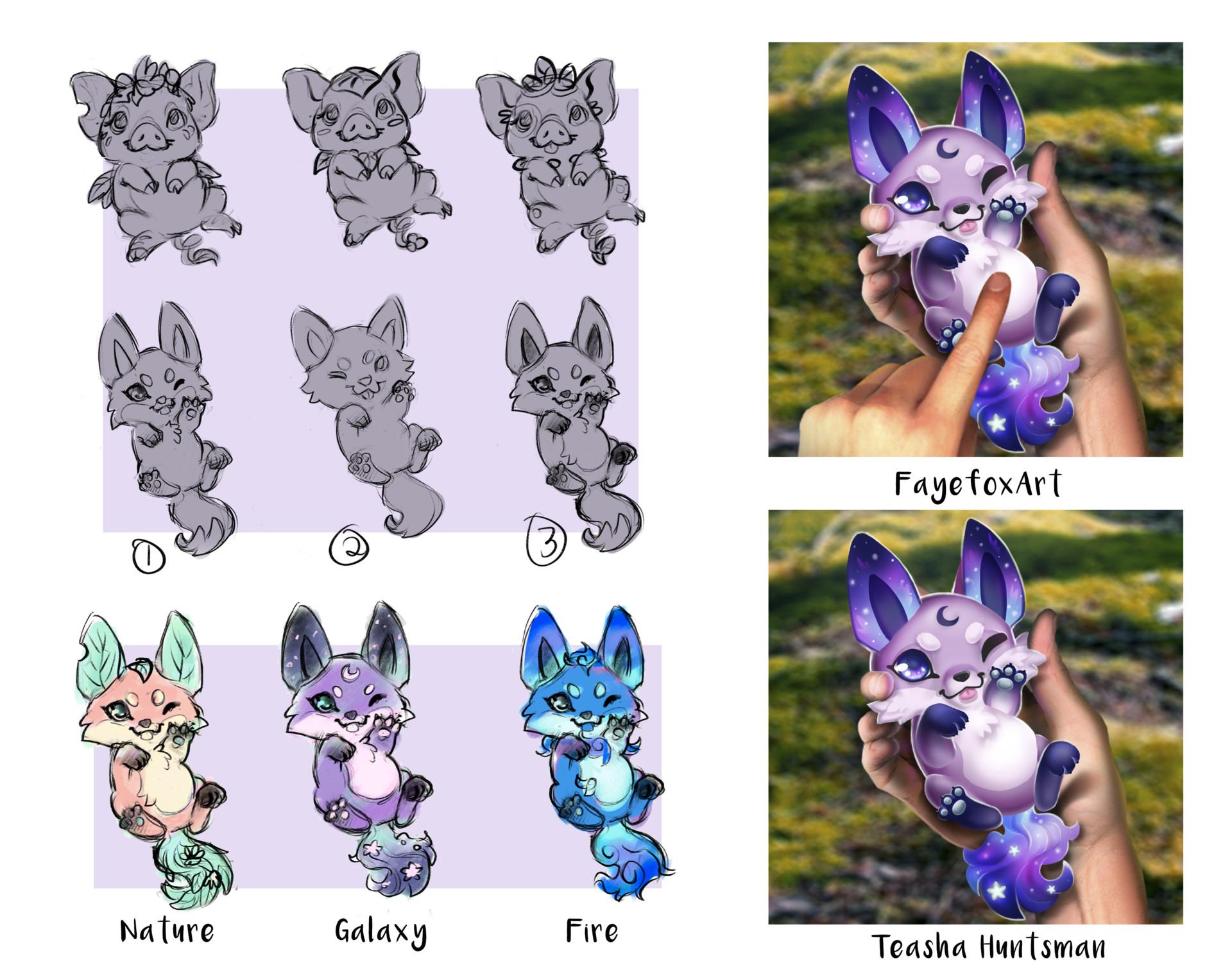 Faye fox huntsman monster arttest concept