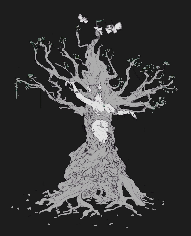 Boyan kazalov treegirlsketch1