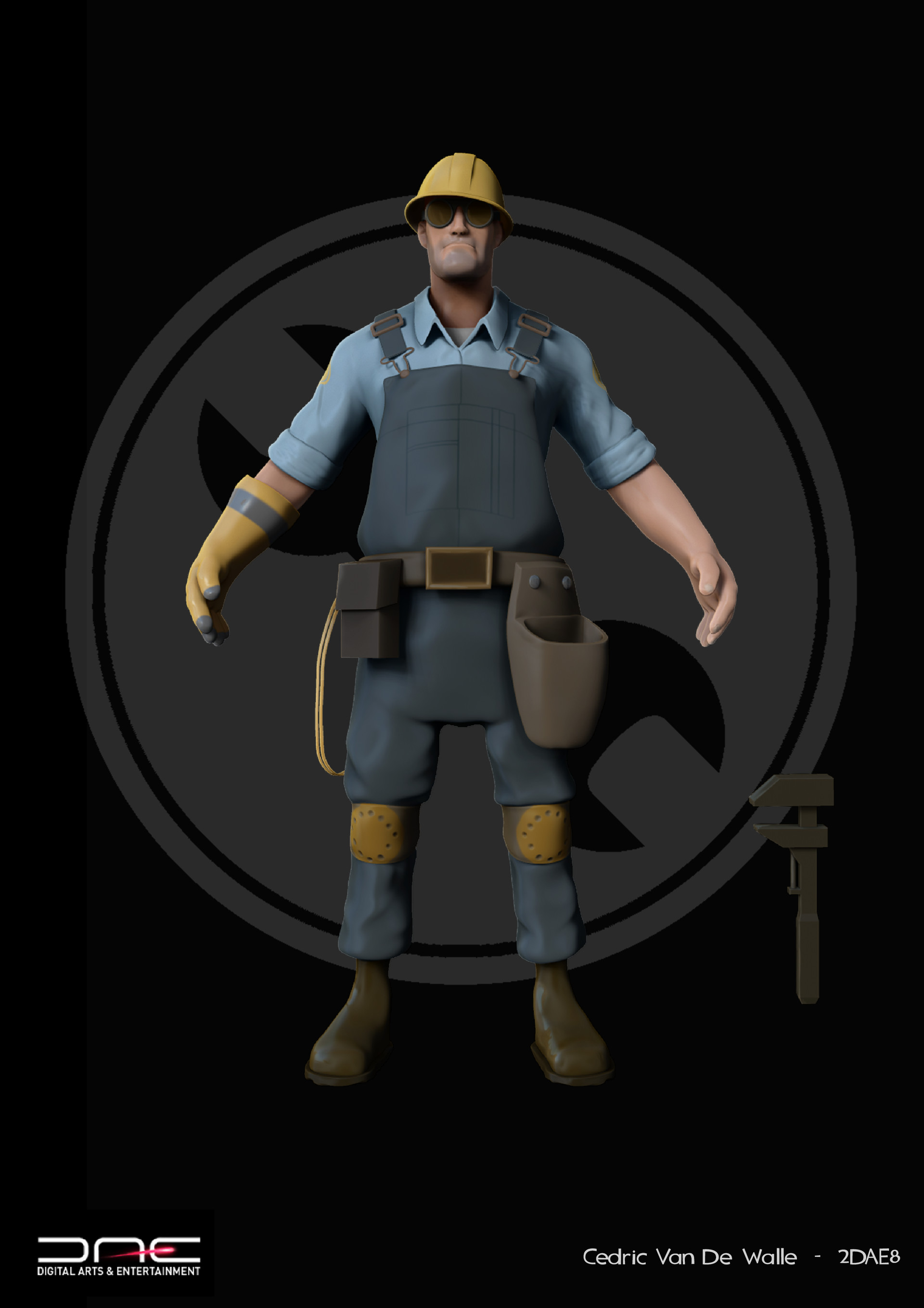 Artstation Team Fortress 2 Engineer Character Model Cedric