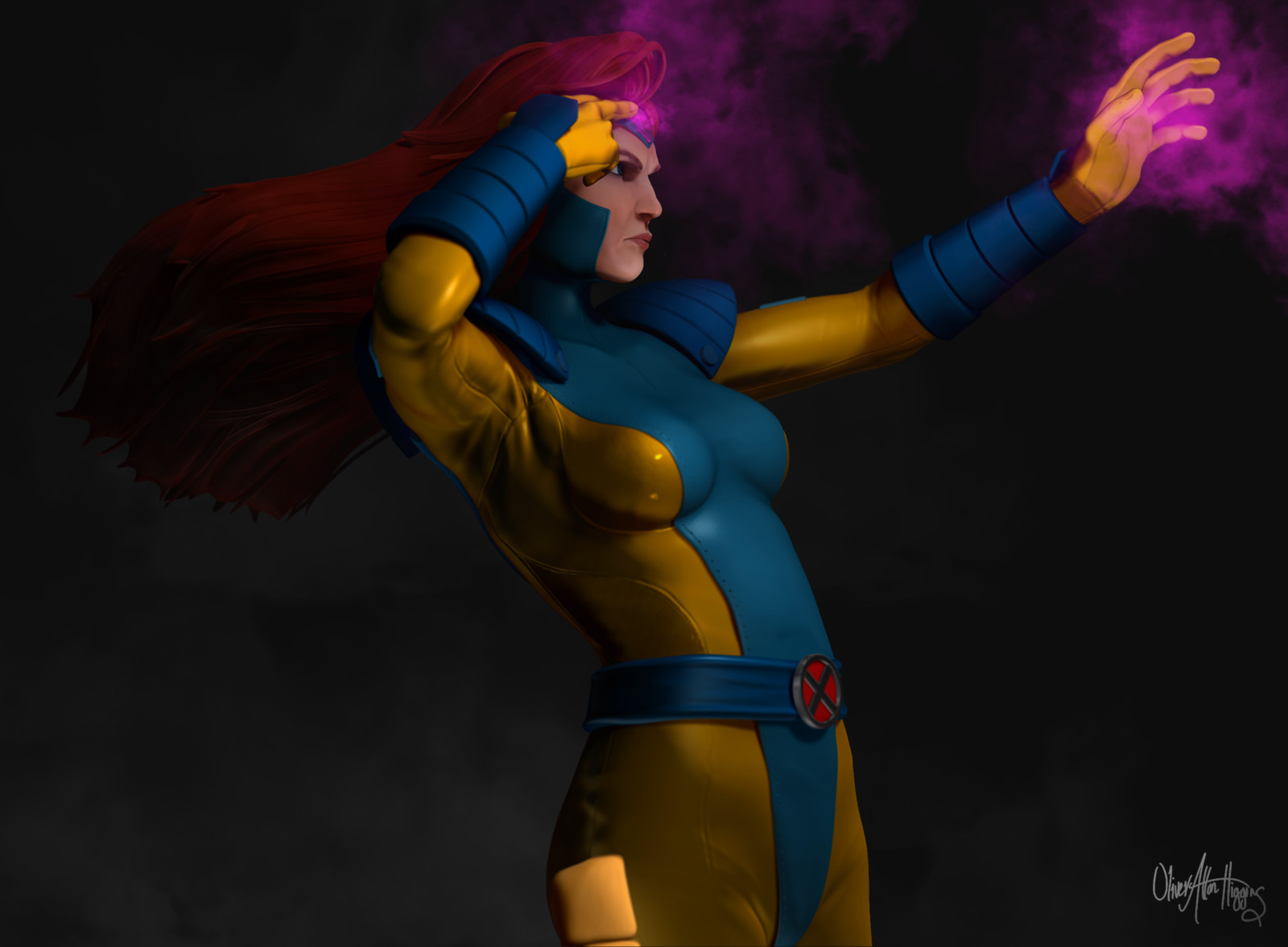 Jean Grey - High Poly Sculpt