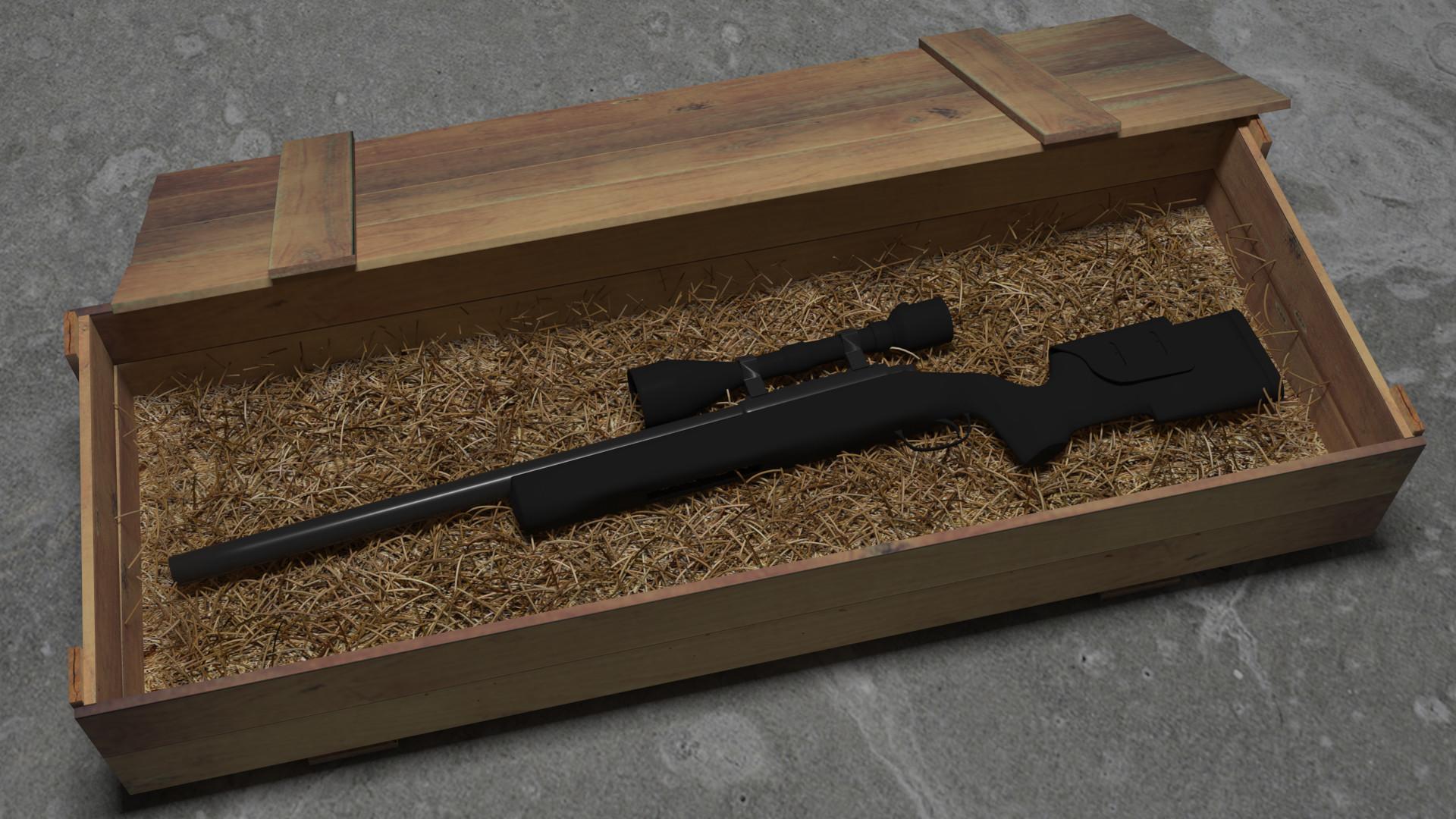 Artstation Fn Police Rifle In Ww2 Military Crate Rasmus Jensen