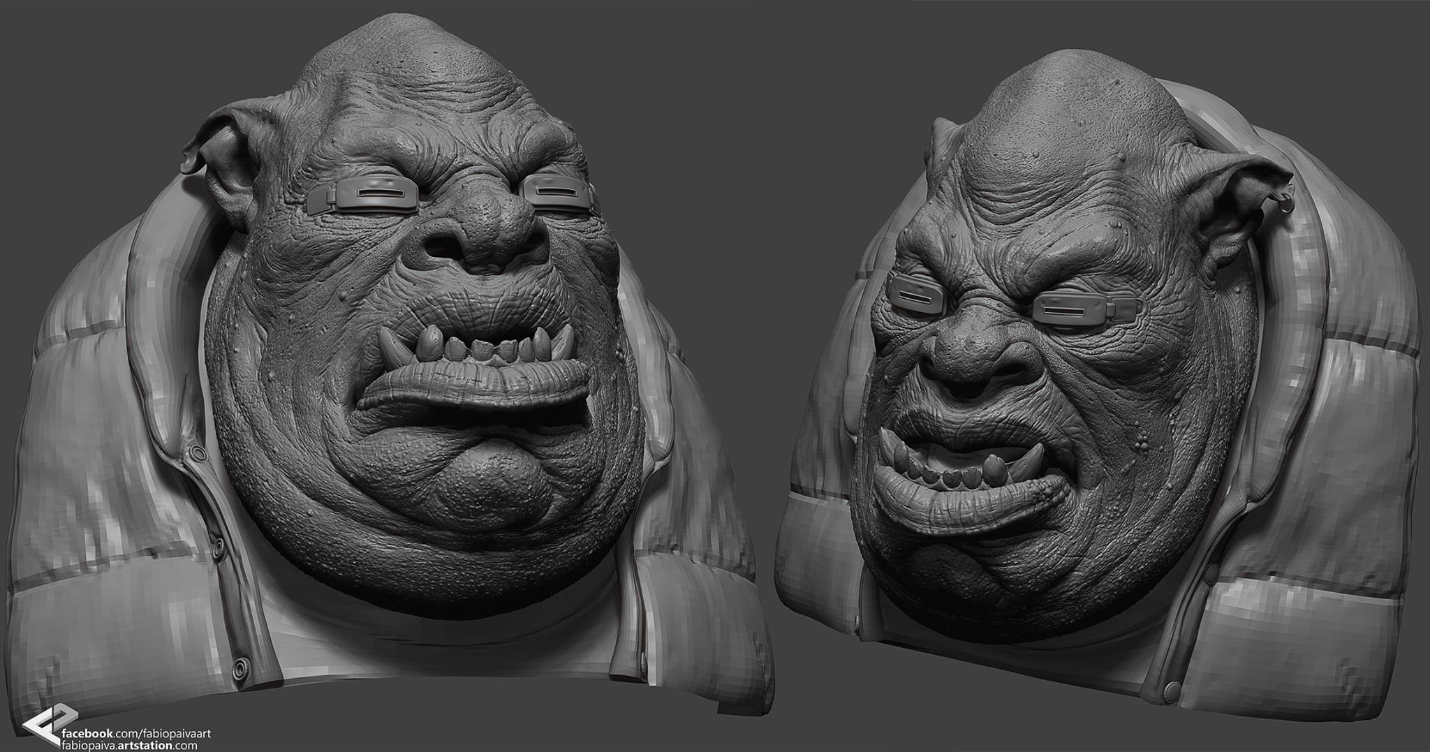 zbrush - basemesh provided by  the instructor