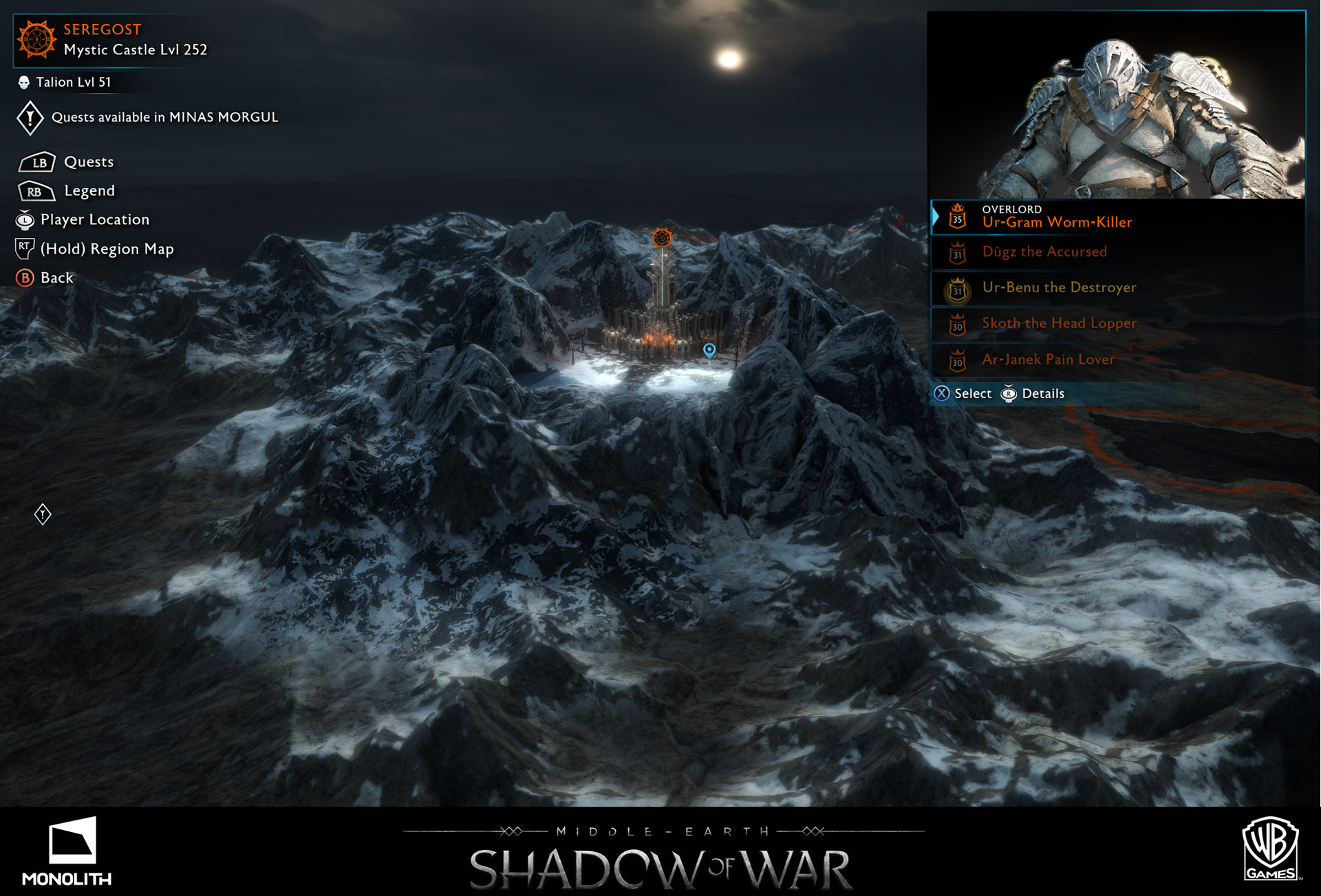 ArtStation - UX/ UI Map Screens- Shadow of War, Stephen Whetstine