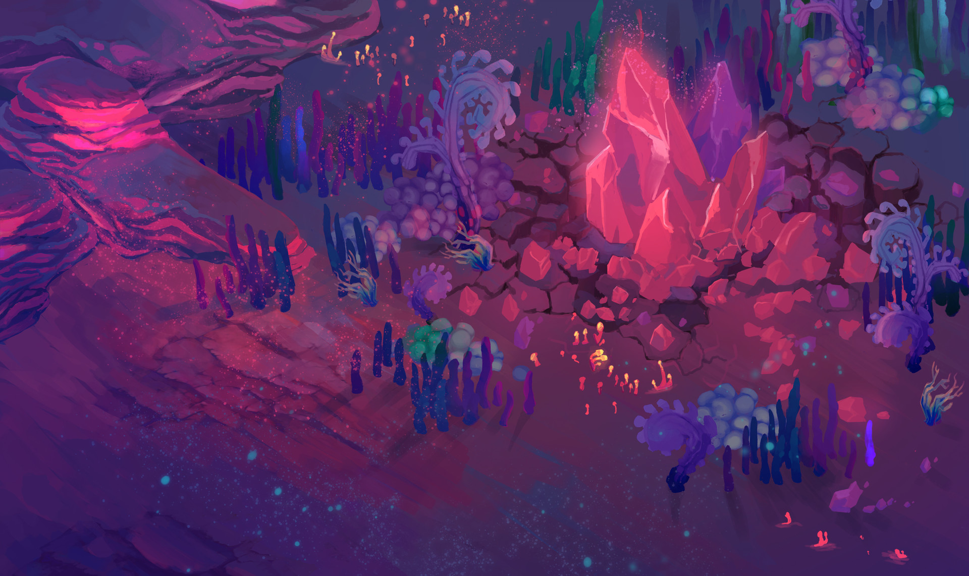 Mushroom biome environment art