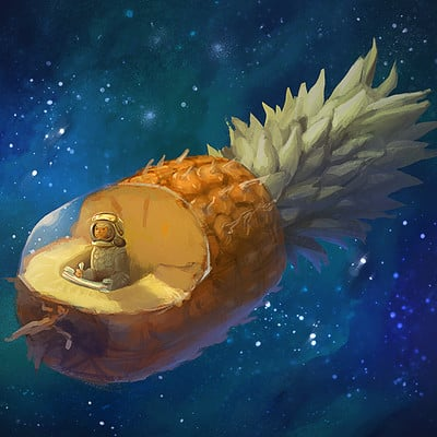 Inna hansen pinaple spaceship