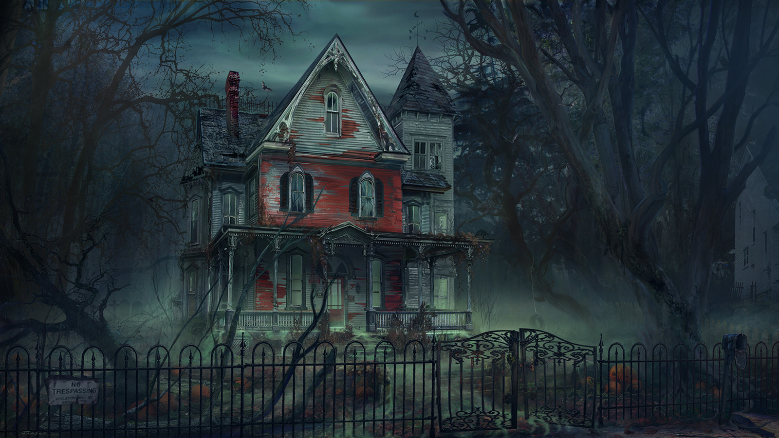 a Haunted House - Night
