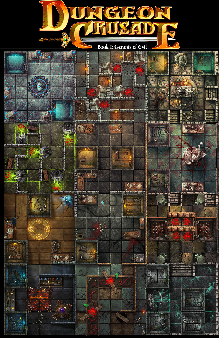 Dungeon Crusade - The Tomb of Kaladar game board