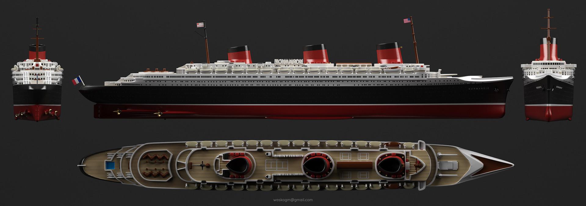 vasilije ristovic ocean liner quotss normandiequot 1932