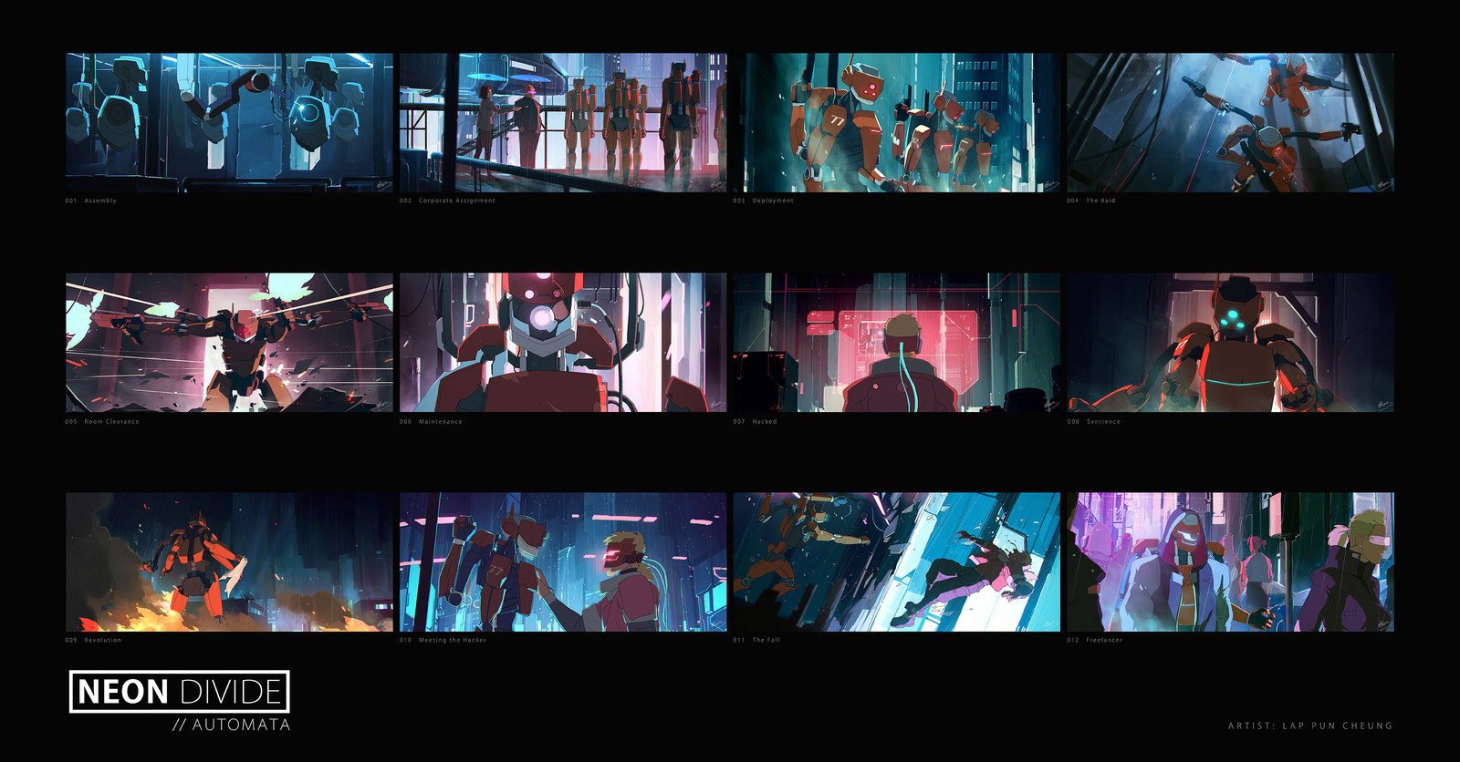 Neon Divide - Cinematic Keyframes - Automata