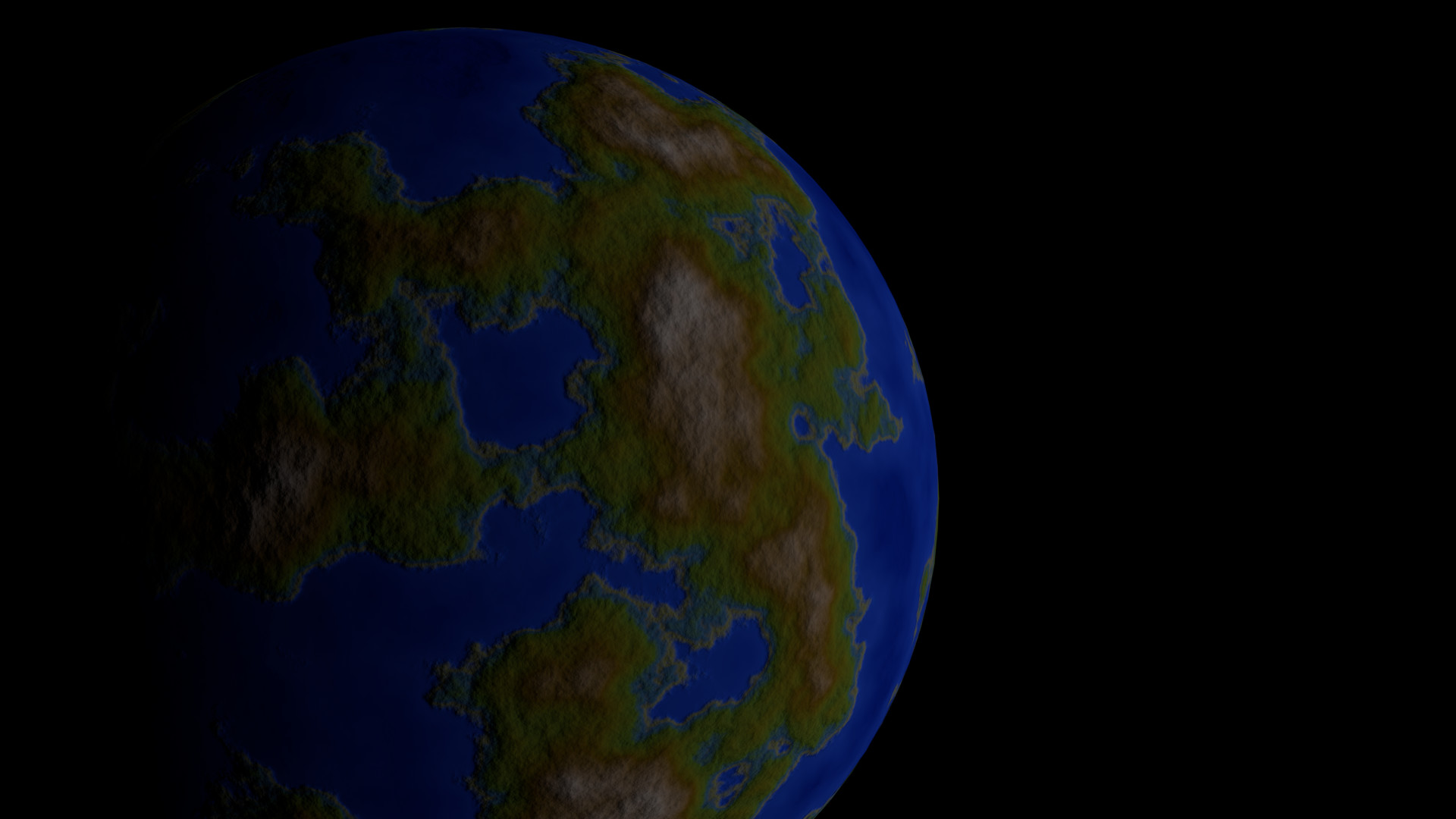 ArtStation - Blender procedural planet generator, Mario Dupuis