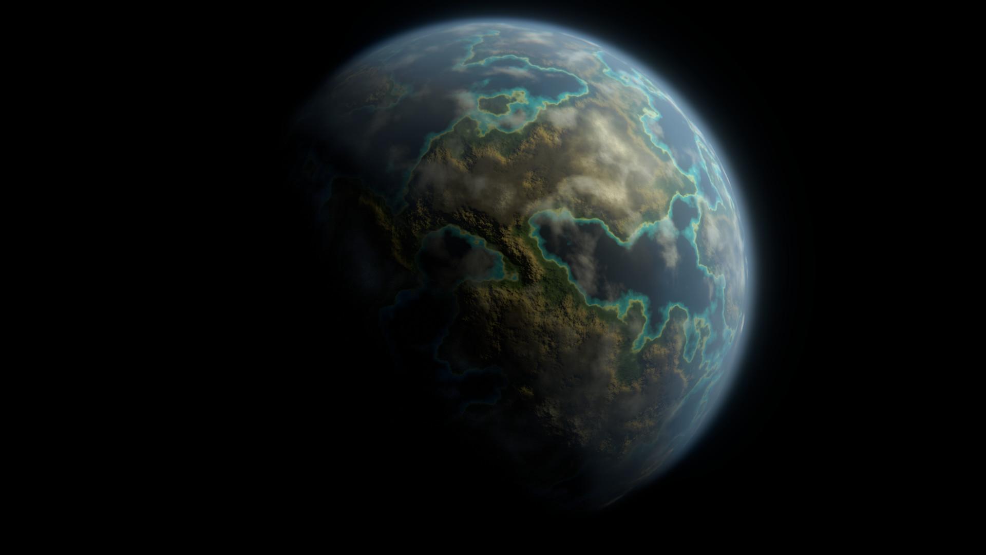 ArtStation - Blender procedural planet generator, Mario Dupuis