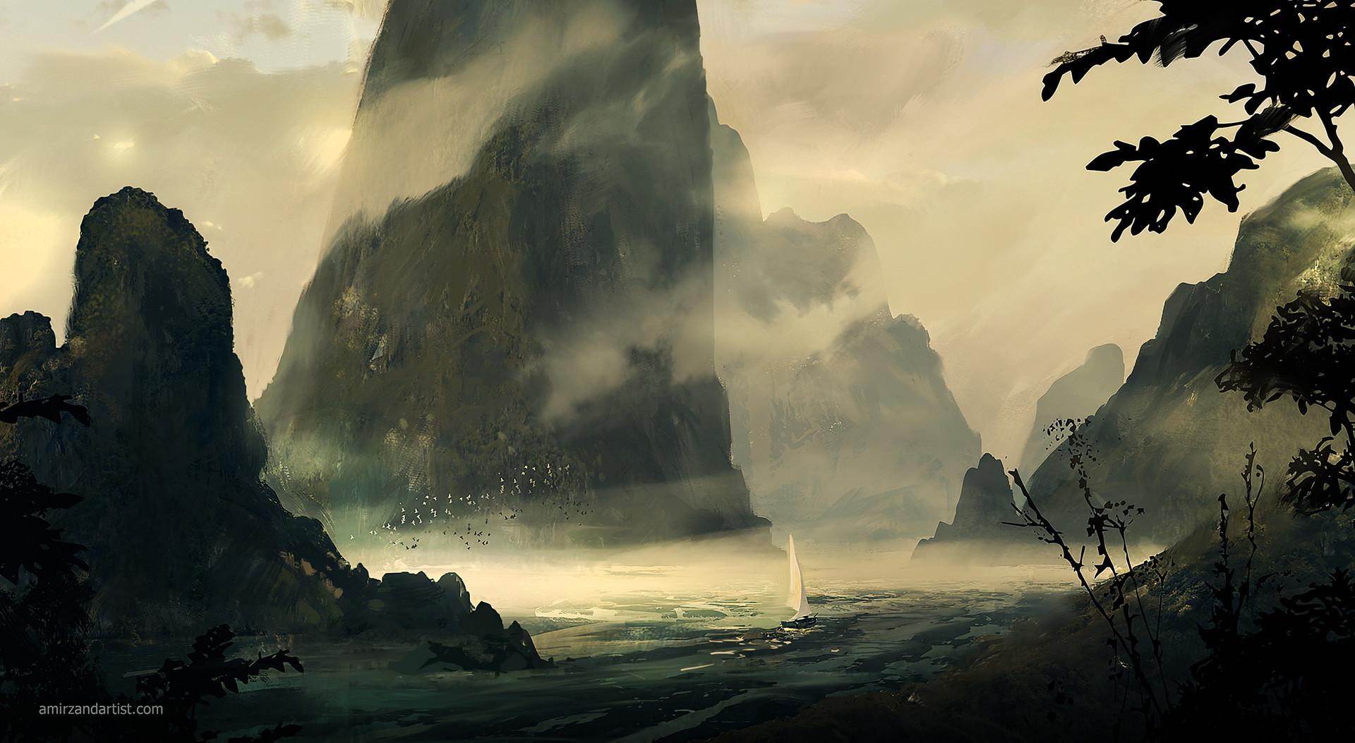 Amir zand artstation faraway land