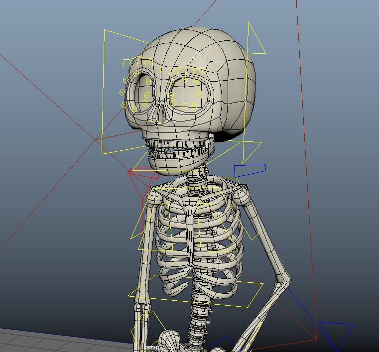 ArtStation - 3D Skeleton Model, Abraham Mast