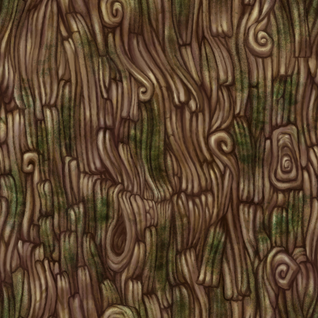 Artstation Handpainted Tree Texture Rau Castillo
