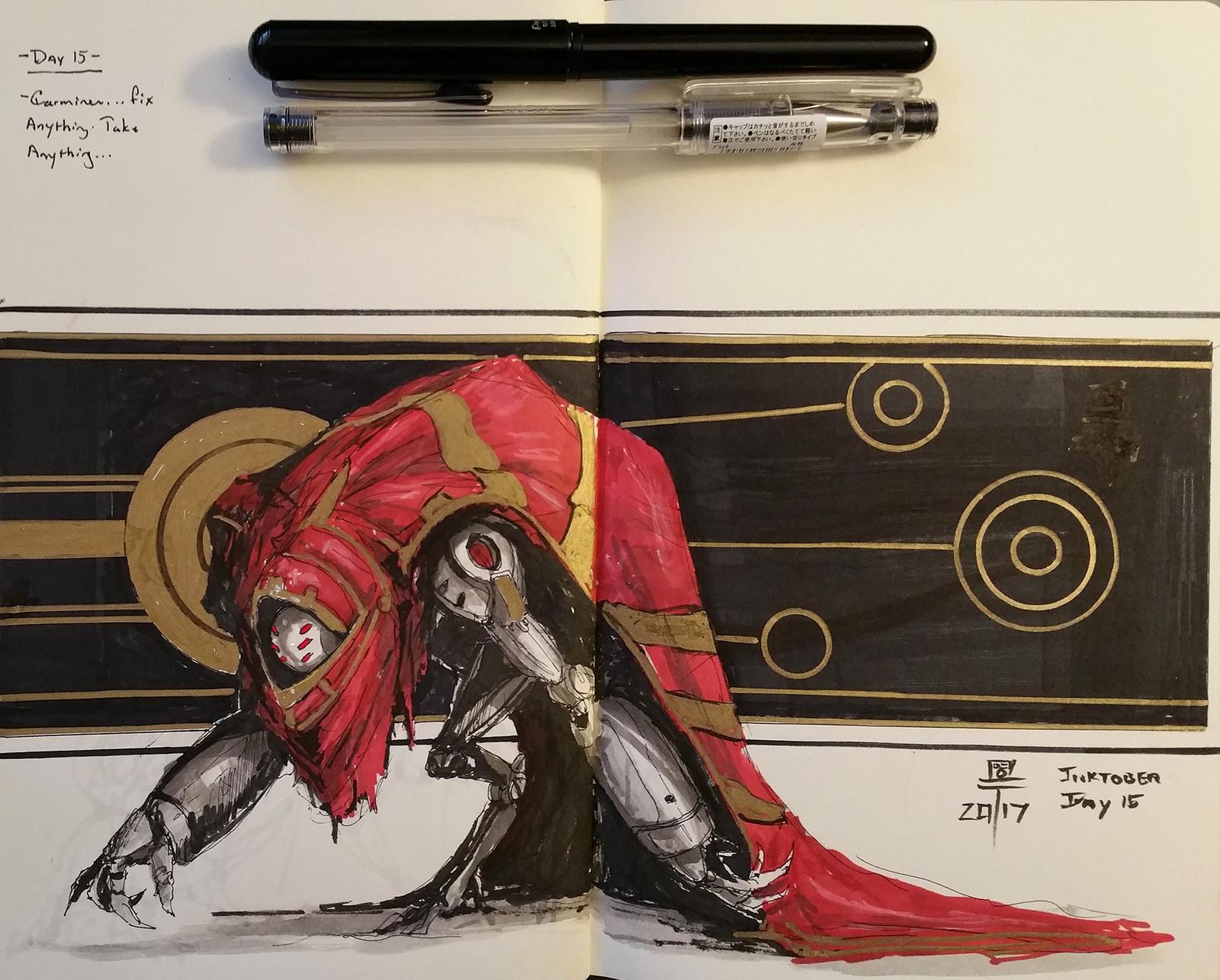 Inktober #15: Carmine