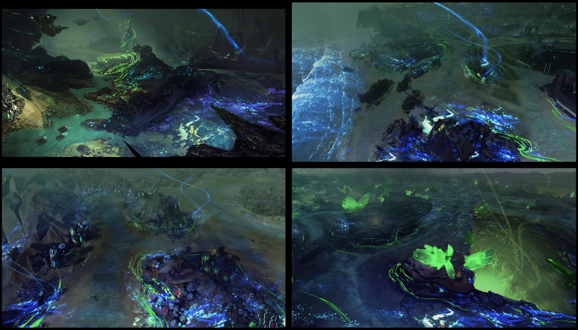 Brx wright dlc flood themes bioluminesence