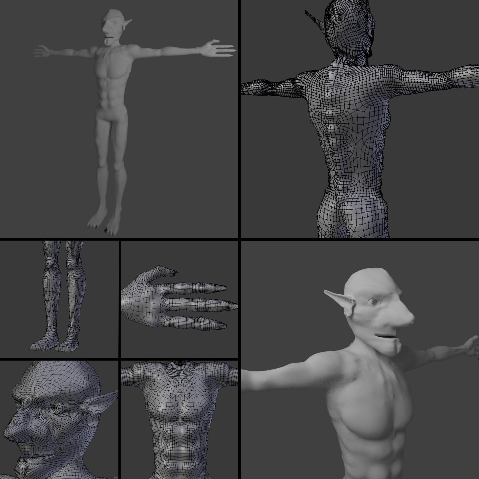 ArtStation - My character modeling progress , Dawid Tomczyk