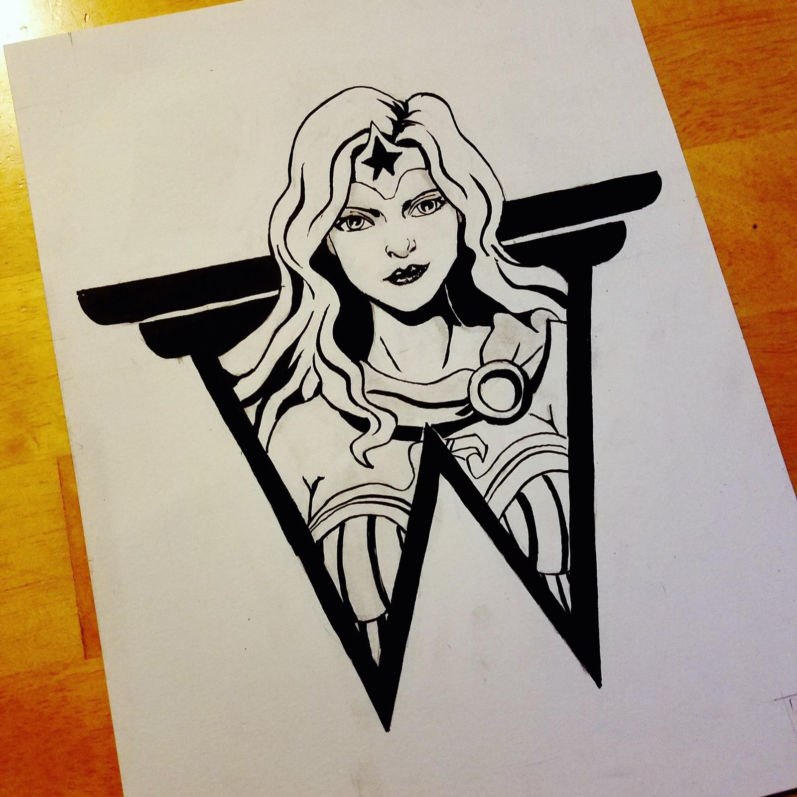 Wonder Woman (Inktober Day 14: Fierce)
