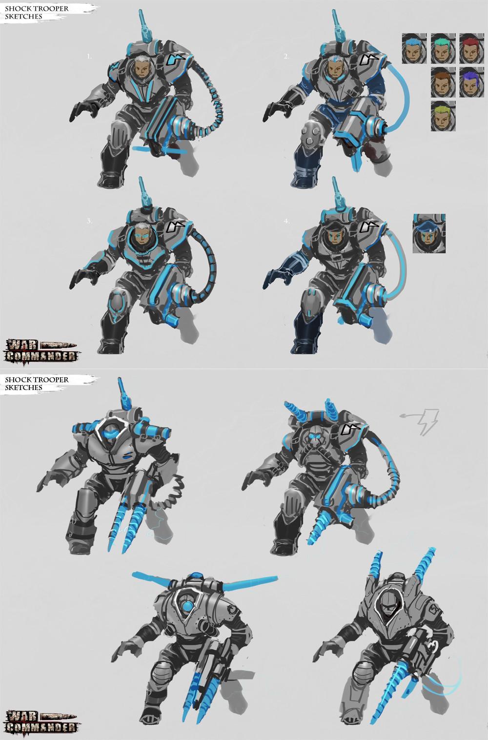 Shock Trooper rough concepts.