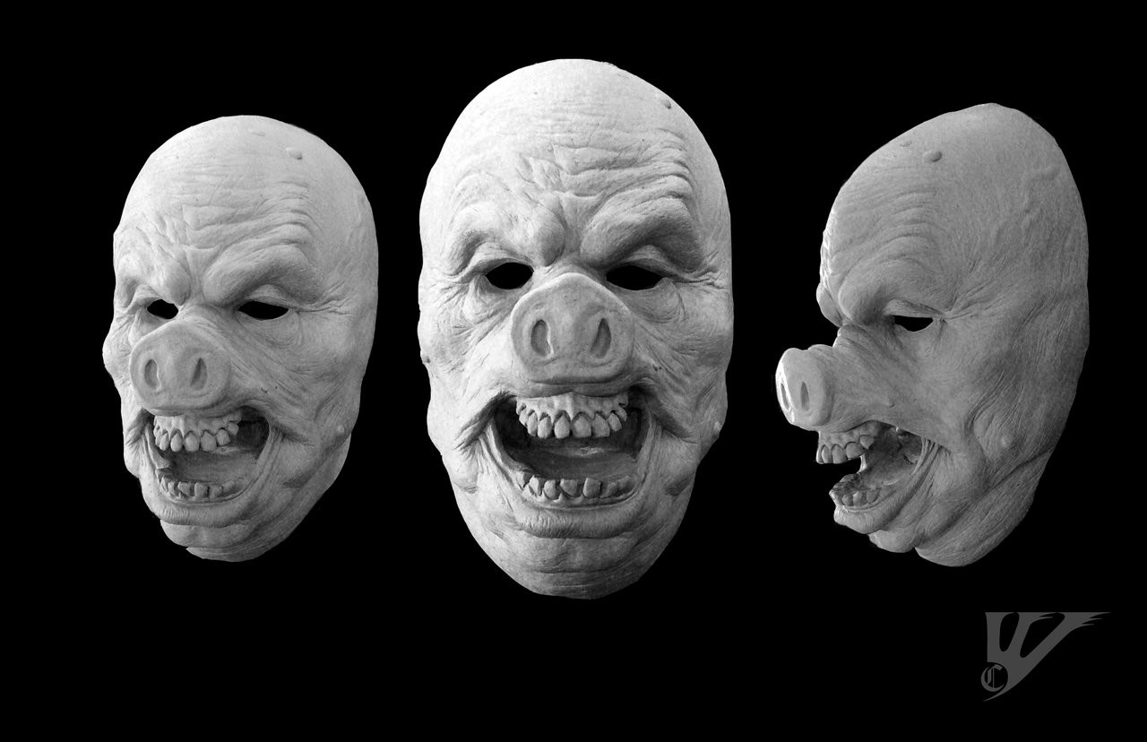 Charles wills oinktonpigmasksculpture