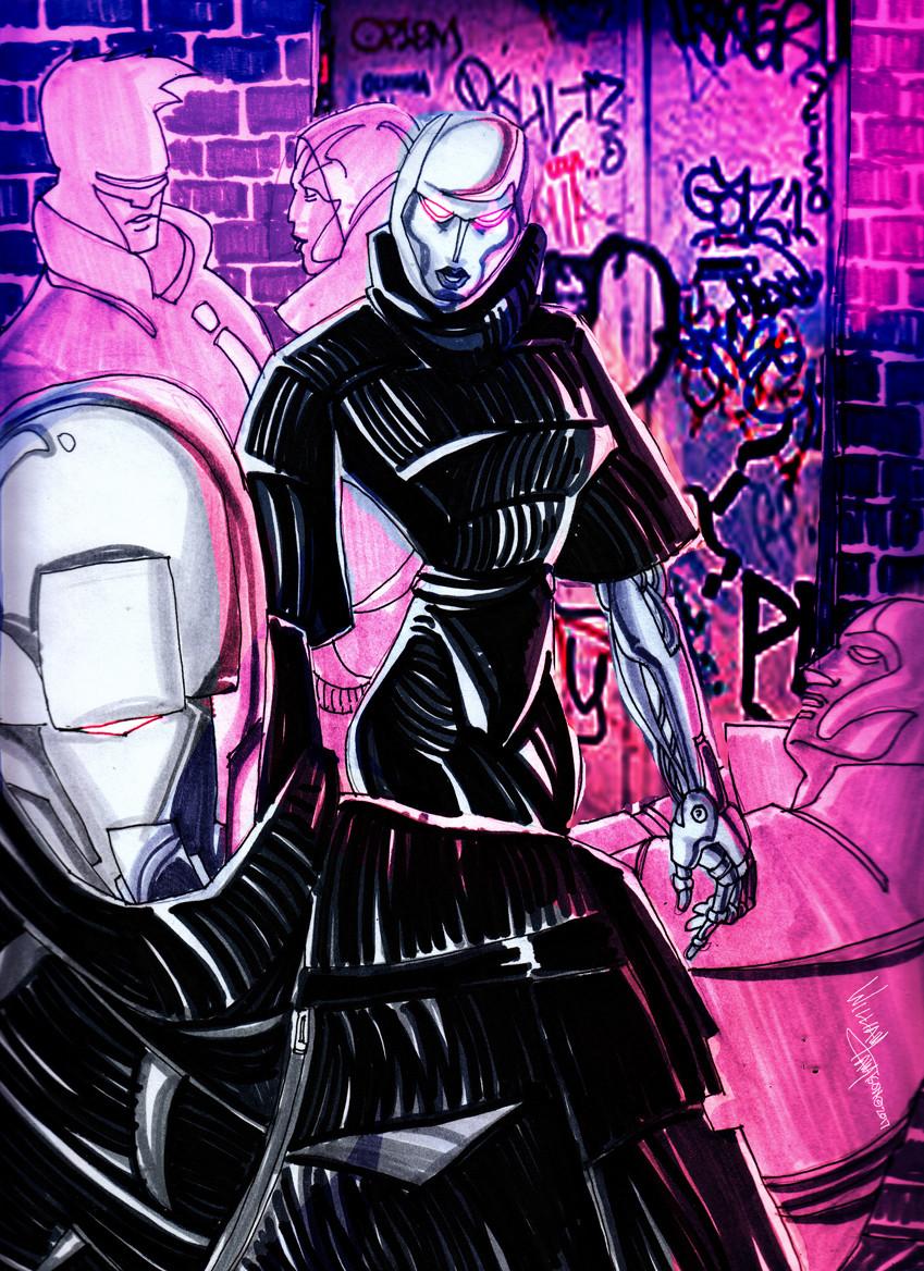 Afromation art huemans cyborgs