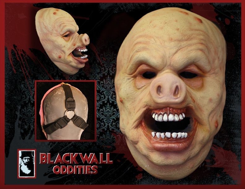 Charles wills blackwall scary pig mask costume