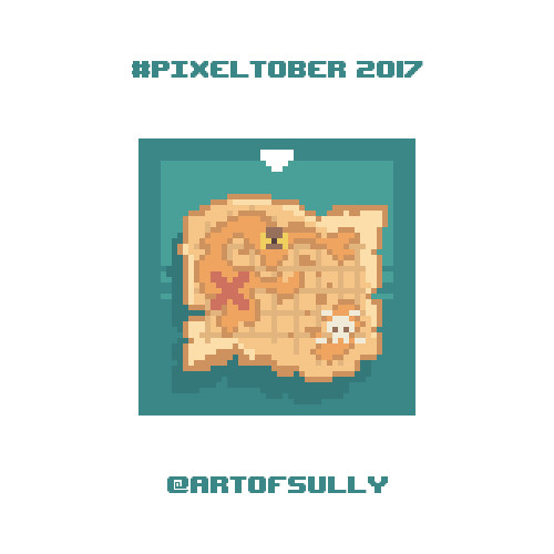 #pixeltober - Day 15 - 'Treasure Map'